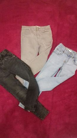 Zestaw spodni - rurki rozm 104-110 dla szczupłego chłopca