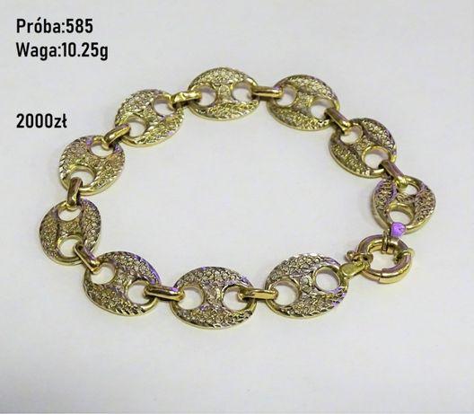 Piękna złota bransoletka!! 585/10,25g
