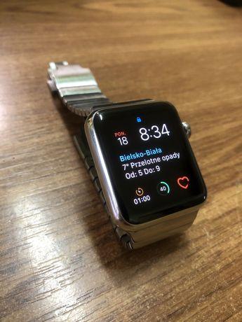 Apple Watch 1 42mm stal, szafirowe szkło, ceramiczny tył