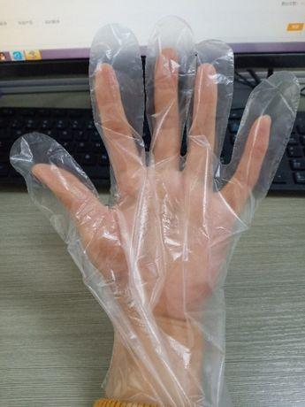 Rękawice Rękawiczki foliowe jednorazowe 100szt HDPE 10 mikronów FV23%