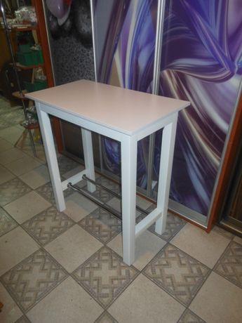 Stół barowy 90x50 wys.110cm biały 2 drążki inne kolory