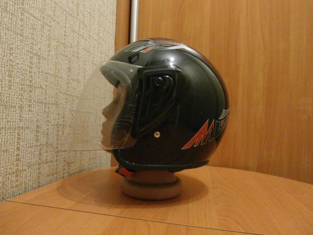 HK-215 Бюджетный полулицевик, открытый мото шлем для скутера, шолом