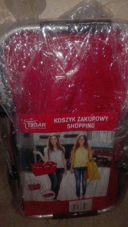 Nowy koszyk zakupowy na zakupy piknik składany czerwony tadar
