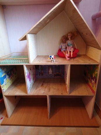 Домик кукольны с мебелью. Дом игрушечный.