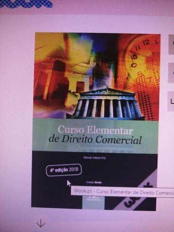Livro - curso elementar de direito comercial
