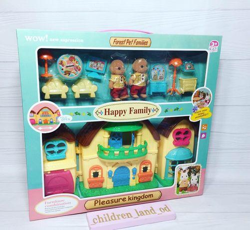 Игровой набор Домик для животных Happy Family, звук .
