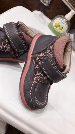 Clarks Ботинки кожа ортопед туфли детские
