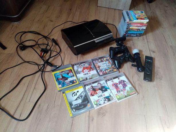 Konsola PS3, kontroler,kamera,gry, pilot