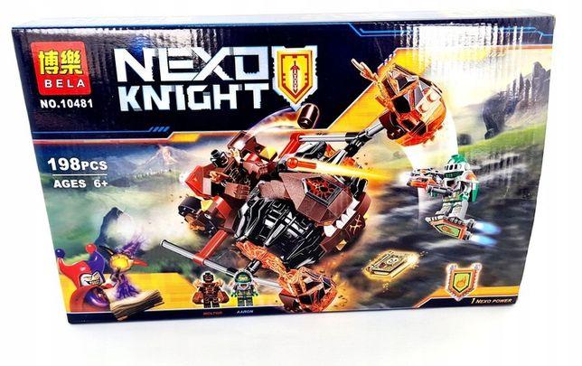 nexo knights pojazd bojowy 2 figurki 198 klocków