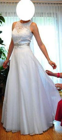 Przepiękna suknia ślubna Linia A + welon+ tiulowa suknia.