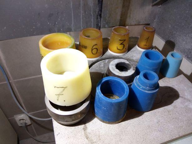 Силиконовые формы для литейной установки.ZUBLER