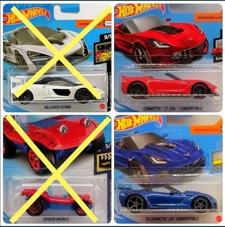 Hot wheels McLaren Senna Corvette Zr1 C7 Spider Mobile Volkswagen vw
