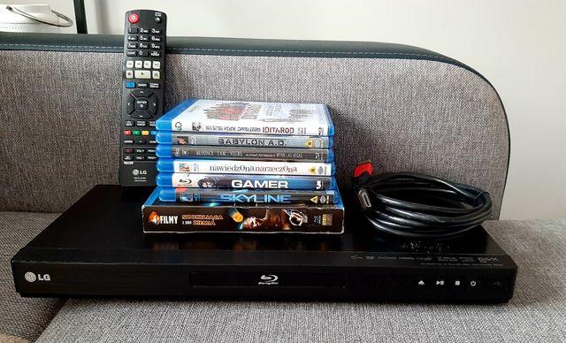 Odtwarzacz Blu-ray LG BD660 3D + 11 filmów + kabel HDMI