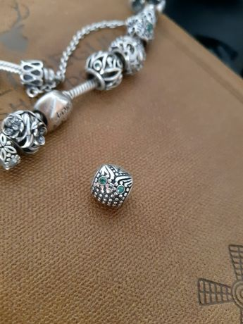 Шарм сова на браслет Pandora пандора