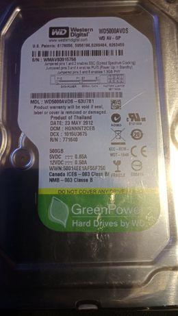 жёсткий диск WD500gb бесшумный,новый,гарантия,обмен