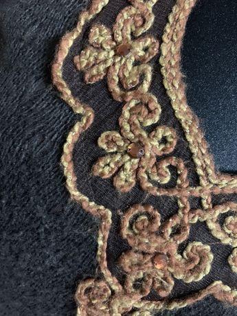 Bluzka boho wintage haft koronka spódnica kozaki