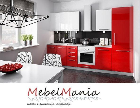 Kuchnia Sorella P, korpus 18 mm, fronty MDF połysk. Projekt 3D gratis