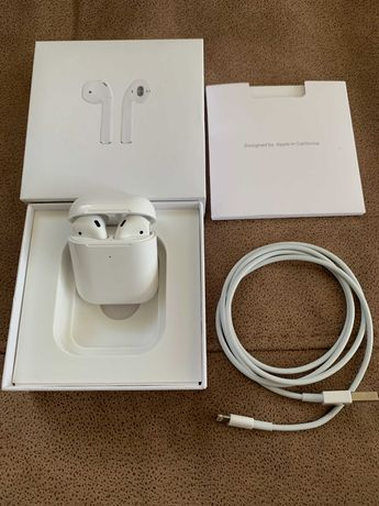 Apple Airpods 2 Оригинал С беспроводной зарядкой