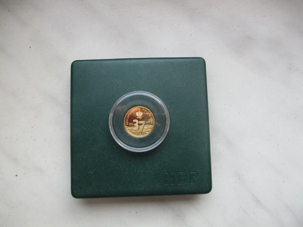 Złota moneta Popiełuszko 37zł 2009 rok.