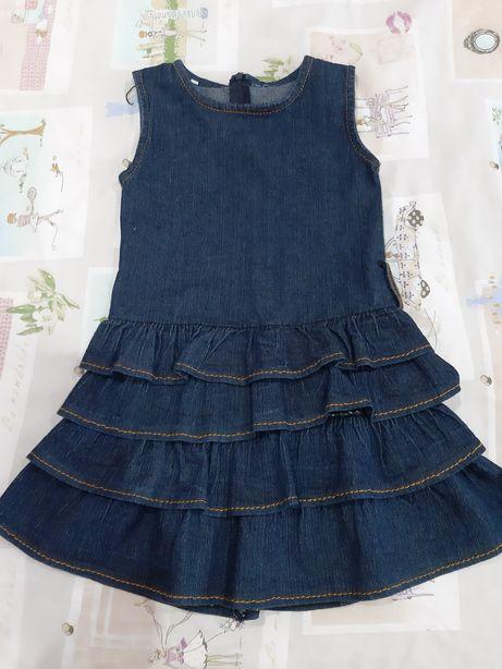 Sukienka dziewczęca jeansowa w rozmiarze 110 cm