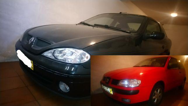 Vendo dois carros Ibiza SDI e Megane Coupé