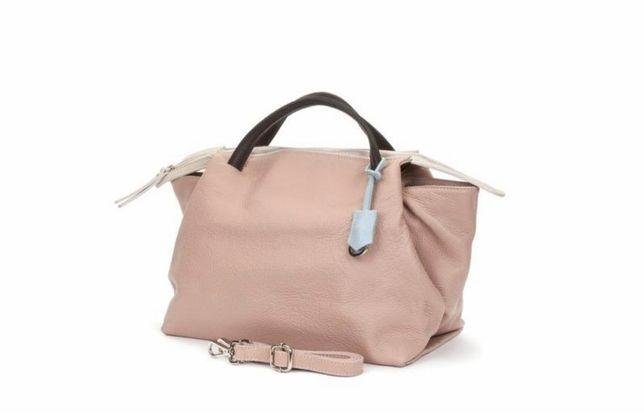 Кожанная сумка -шоппер Италия