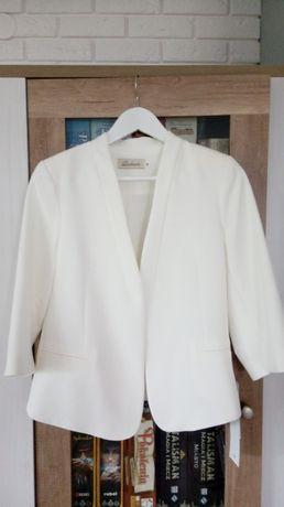 Biały żakiet, NOWY, roz.38, wesele/chrzciny/obrona