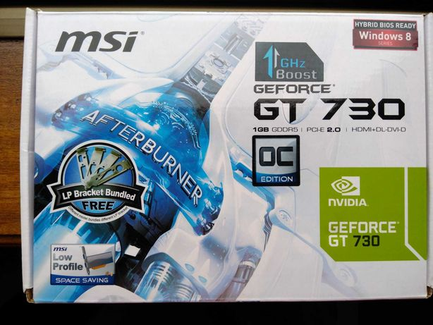 Placa gráfica GT 730 1GB GDDR5 HDMI/DVI/VGA