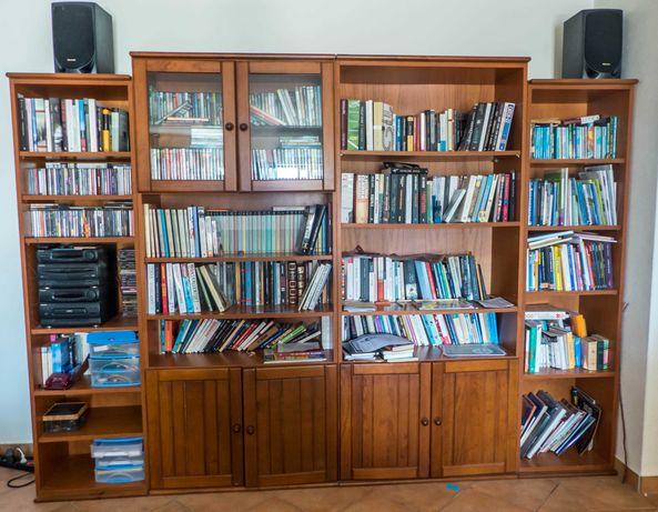 Estante de sala para livros