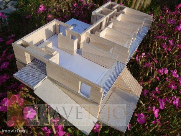 Terreno com projecto aprovado para moradia arquitectura m...