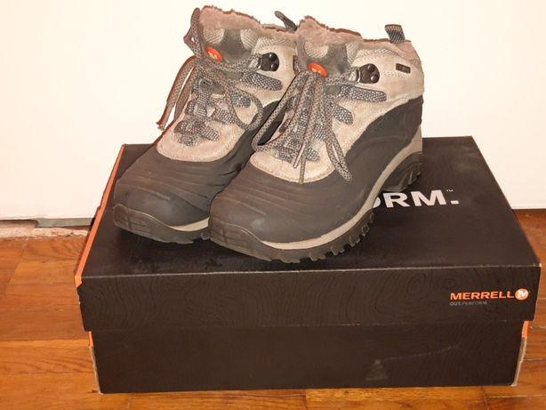 Зимние ботинки женские фирмы MERRELL 36 размера USA 6 б/у