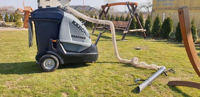 Odkurzacz miejski przemysłowy KARCHER sprząta tereny zielone hale ogro