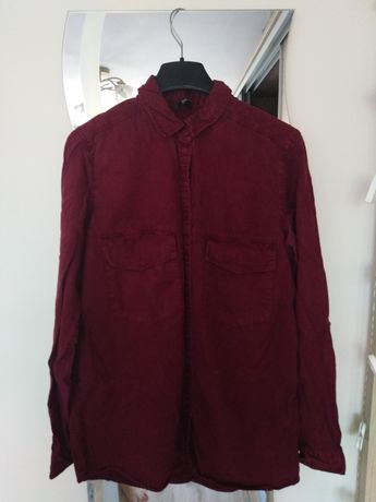 Bordowa koszula damska stradivarius S