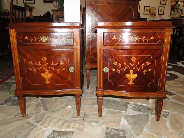 Mesas de cabeceira antigas estilo Dª Maria - óptimo estad