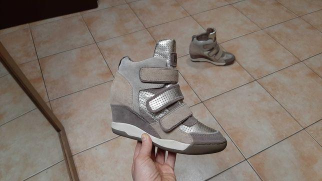 36-37р,стелька23,5см,Замшевые сапоги,ботинки,кеды,сникерсы ASH Limited