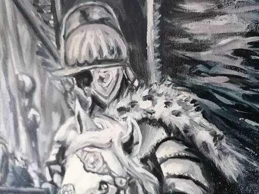 Obraz olejny - husaria, jeźdźcy apokalipsy
