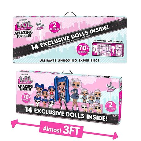 lol surprise amazing , огромный набор 14 кукол