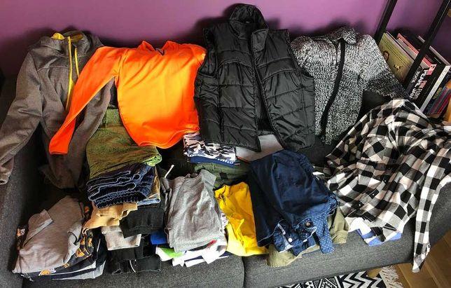 Mega paka - ubrania dla chłopca - 10-12 lat - zestaw 42 różnych ubrań
