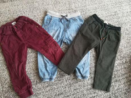 Spodnie joggersy Zara ff sweterki Reserved hm