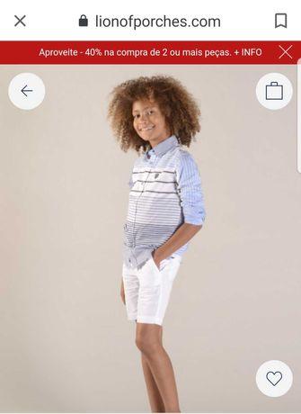 Calção e camisa ainda com etiqueta lion of porches