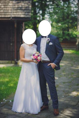Suknia ślubna, rozmiar 36 + nowy welon Gratis!!