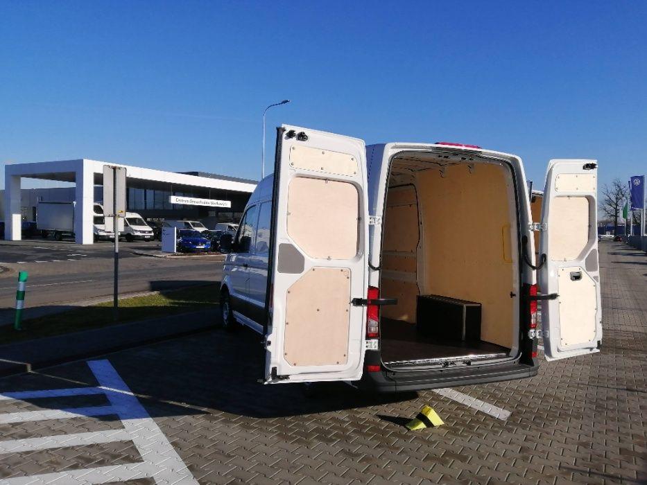Zabudowa auta dostawczego Volkswagen Crafter L4H3 oraz innych modeli