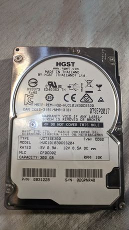 "Hitachi HGST Ultrastar C10K1800 2.5"" HUC101830CSS204 300ГБSAS"