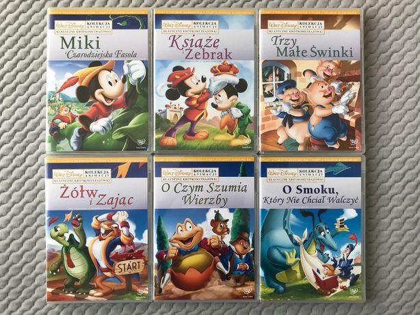 """""""Kolekcja Animacji Disneya"""" - 6 DVD z kreskówkami Disneya - UNIKAT!!!"""