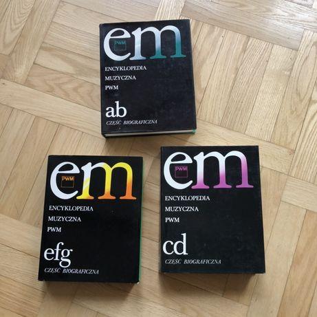 Encyklopedia Muzyczna PWM - komplet 3 tomów a-g stan bardzo dobry