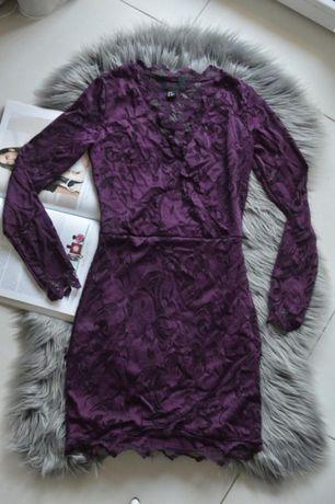 Piękna koronkowa sukienka H&M 34