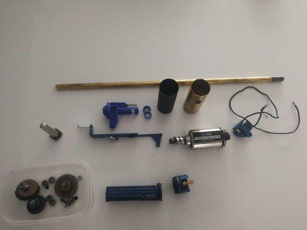ASG Części AEG silnik cylinder lufa hop up dysza prowadnica sprężyny