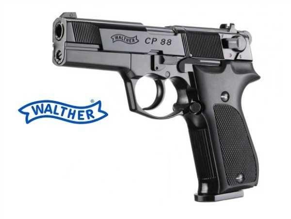 """WALTHER CP88 4"""" Co2 Full Metal munição 4,5mm de Chumbo"""