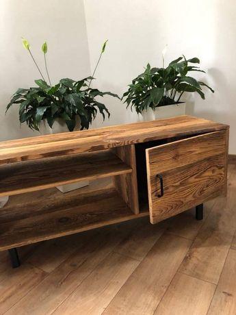 Piękna komoda ze starego drewna industrialna vintage