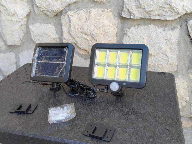 Projector  de led com painel solar